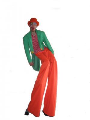 Échassier,sculpteur de ballons,clown,